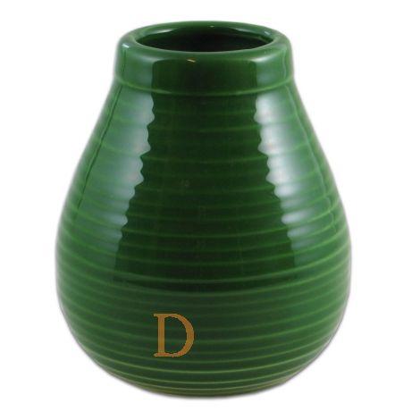 Mate Becher Rustico Keramik grün