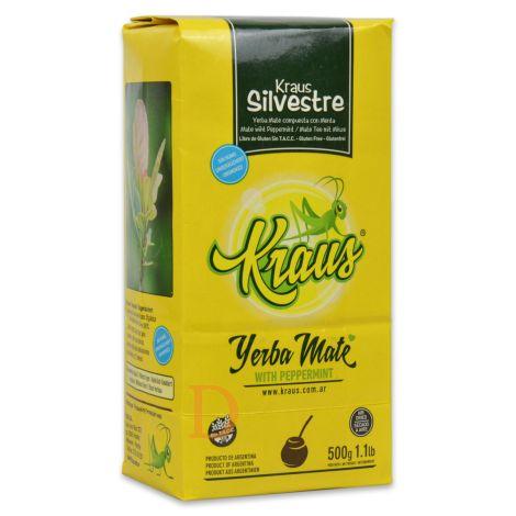 Kraus Silvestre mit Pfefferminzaroma (ungeräuchert) - Mate Tee aus Argentinien 500g