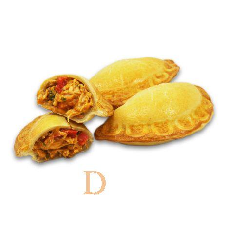 12 Empanadas Delicatino - mit Hühnchen und Barbecuesoße