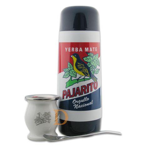 Mate Survival Pack Pajarito (Tasche mit Thermoskanne + Mate Becher Edelstahl + Bombilla 21cm)