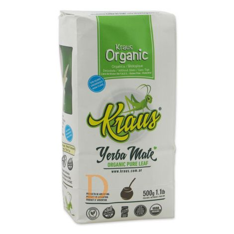 Bio Mate Tee - KRAUS PURE LEAF (Fair Trade, ungeräuchert, ohne Stängel) - Mate Tee aus Argentinien 500g
