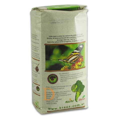 Kraus Pure Leaf Organic 500g (ungeräuchert, ohne Stängel und Pulver) - Mate Tee aus Argentinien 500g