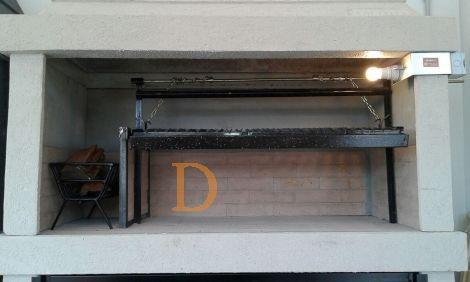 BINELLI Steingrill N°2 SU mit Feuerstelle - Beige 1,26m
