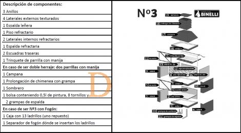BINELLI Steingrill N°3 mit Doppelgrillrost - Beige 1,56m