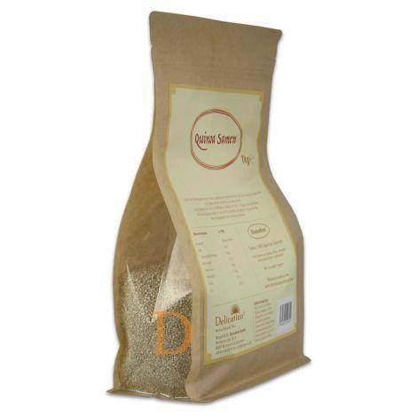 Quinoa Samen Delicatino 1kg aus Peru - wiederverschließbare Packung