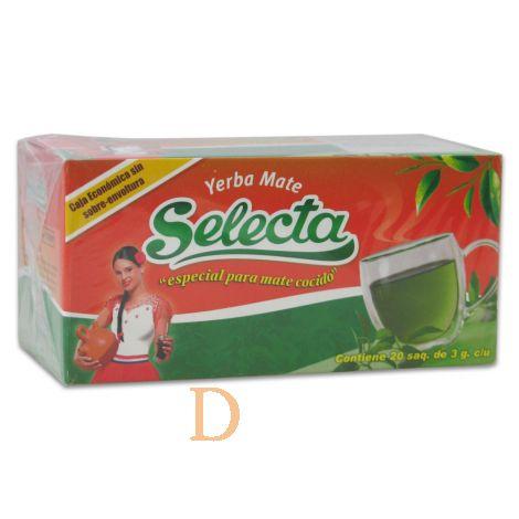 Selecta Teebeutel - 20 Stück einzeln verpackt - Mate Tee aus Paraguay