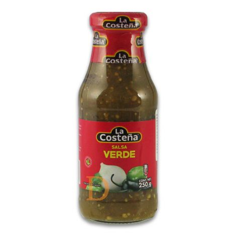Salsa Verde La Costeña 220ml - grüne, leicht scharfe Sauce aus Tomatillos