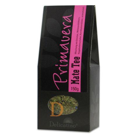 Mate Tee Delicatino - Primavera - 150g (mit Melisse, Hagebutte, Blüten und natürlichem Beerenaroma)
