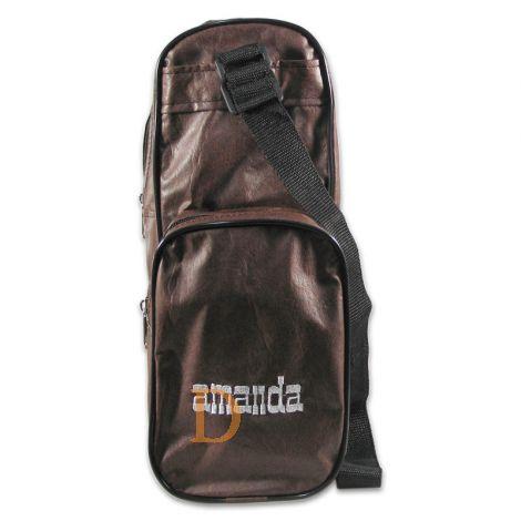 Termera AMANDA simil cuero marron - braune Kunstledertasche für Mate Tee mit 3 Taschen