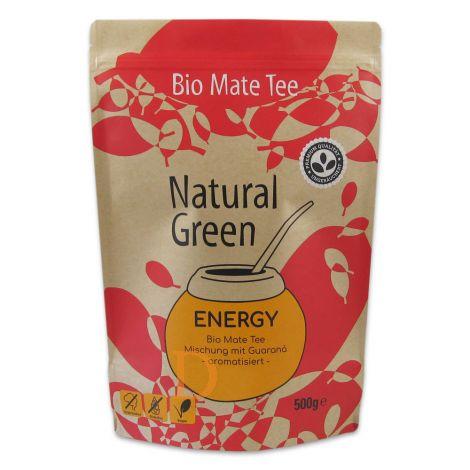 Mate Tee Delicatino Premium - ENERGY - 3 x 500g - mit Guaraná und Grapefruitaroma (natürlich und ungeräuchert)