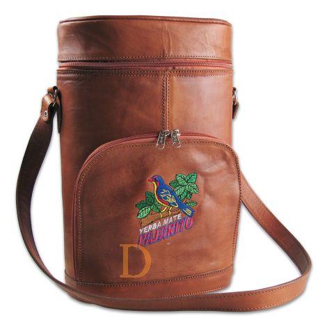 Matera Pajarito - braune Tasche für Mate Tee aus Leder
