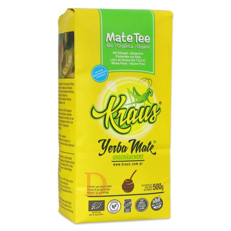 Bio Mate Tee - KRAUS ORGANICA 12 x 500g - Fair Trade & ungeräuchert - Mate Tee aus Argentinien