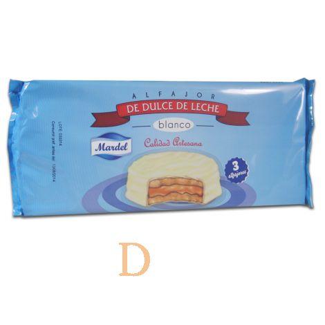 Alfajores Mardel Chocolate Blanco - 3 (150g)