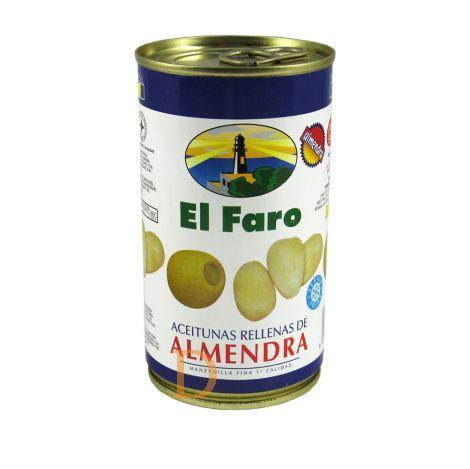 Oliven gefüllt m. Mandelpaste 150 g, El Faro