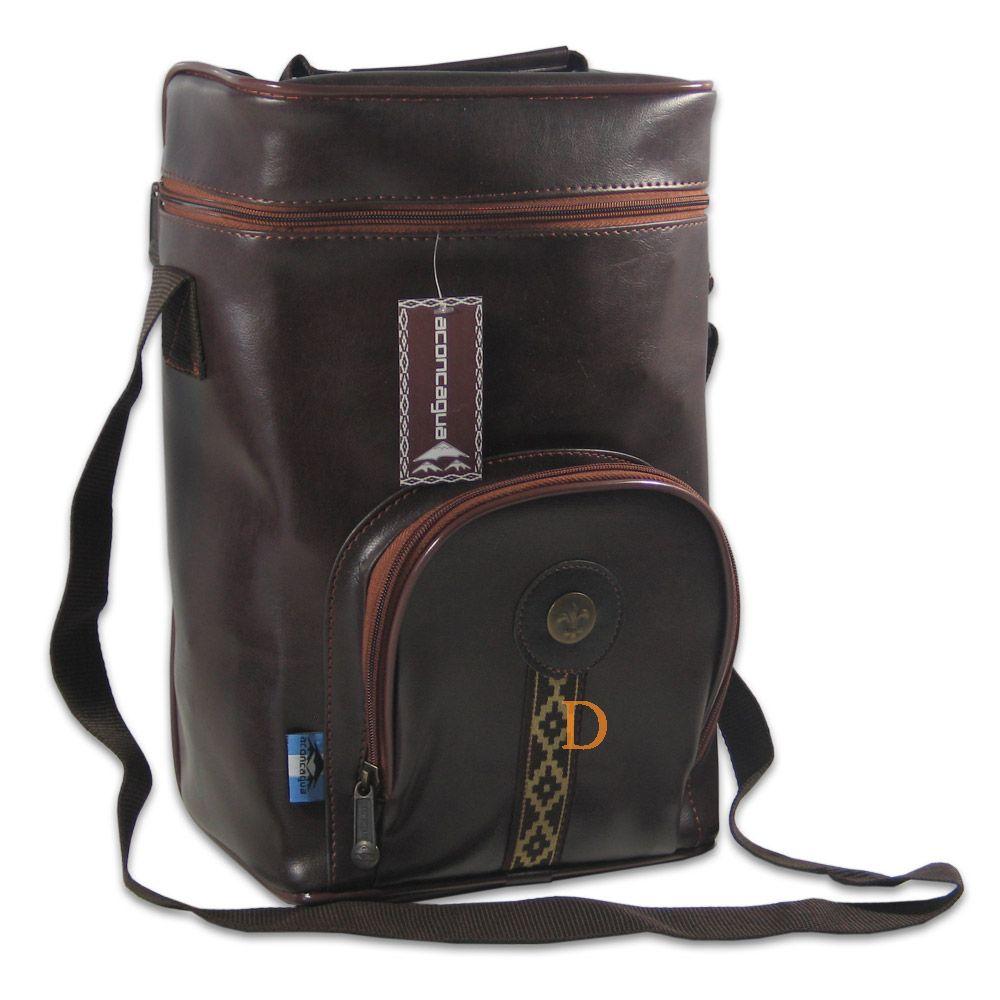Matera Simil Cuero Marrón Aconcagua Yerba Mate Bag Made Of Synthetical Leather