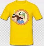 Männer Slim-Fit T-Shirt Diego - Eigelb, Größe L