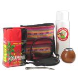 Matera Tela Multicolor - Tasche für Mate Tee aus buntem Stoff