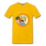 Men Premium T-Shirt Diego - yellow, size L
