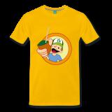 Männer Premium T-Shirt Diego, Sonnengelb, Größe L