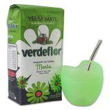 Kombi-Angebot Mate Mateo Vetro grün + Verdeflor Menta 500g