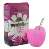 Kombi-Angebot Mate Mateo Vetro pink + Verdeflor Melisa 500g