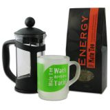 Kombi-Angebot Matepress 0,35L + Mate Tee Delicatino Energy 200g + Trinkglas Delicatino