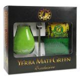 Mate Set - Yerba Mate Green + Mate Keramik Grün + Bombilla